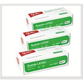 Guante latex t-med qalita 100 ud (c/1000 ud ) san - 2470001-2-3