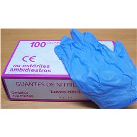 Guante nitrilo t- med qalita pq.100 ud (c/1000 ud) - 2470018-29-30-36