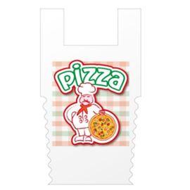 Bolsa camiseta troquelada pizzeria 200 ud - 3710060-BOLSA CAMISETA PIZZERIA