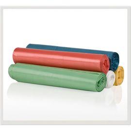 Bolsa basura 52x60 verde 25 ud c/ 50 rollos - BOLSAS DOMÉSTICAS COLORES