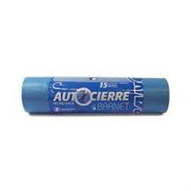 Bolsa basura 55x55 autocierre azul 15 ud c/ 60 ro - 2620001