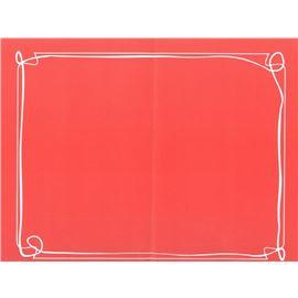 Minimantel 32 * 40 lito fondo rojo 1000 ud - 1440004-MINIMANTEL LITO ROJO