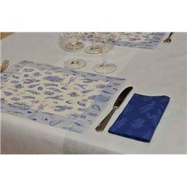 Minimantel 30x40 50 gr decorad marisco azul c/500 - 1440010 - MINIMANTEL MARISCO-AZUL-150X150