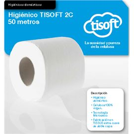Papel hig. domest. microdeco 50 mtr. tisoft s/120 - 2360004