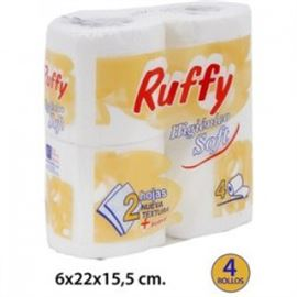 """Papel 15mtr. """"rufy"""" higiénico pack 4ud s/ 96 rollos - 2360001"""