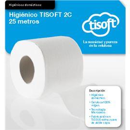 "Papel 25mtr. higiénico ""tisoft"" s/108 rollos ref: ce021 - 2360031"