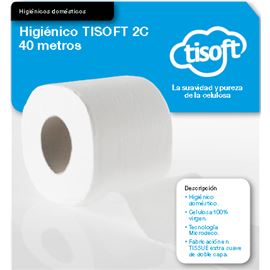 "Papel 40mtr. higiénico ""tisoft"" s/ 96 roll ref: ce228 - 2360026"