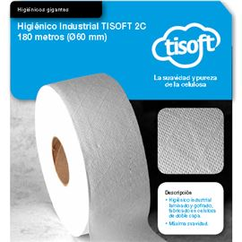 Papel hig.yumbo tisoft 2c180mtr.(60mm)s/12 ce052 - 2340024