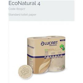 Papel hig. domestico eco nature 4 rll saco/56 2c 44m 811927 - 2360037-PAPEL HIGIENICO DOMESTICO ECO NATURE 4 RLL