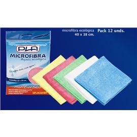 Bayeta microfibra pack 12 und. colores pla - 2410033