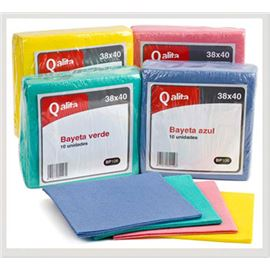 Bayeta qalita azul 38x40 pack 10 ud - 2410039