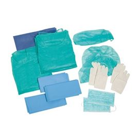 Set protección (bata+gorro+calza) ud - 2490012