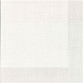 Serv 40x40 1/8 air laid blanco hilo gris c/300ud (sin cenefa) - 1340053-SERVILLETA40AIRLAIDBLANCOHILOGRIS