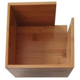 Servilletero bambu natural 13.5x13.5x10 ref: 210.39 - 1410007-SERVILLETERO BAMBU 13.5X13.5X10