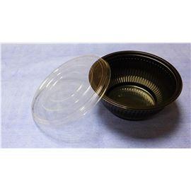 Ensaldr. negra plast+tapa 1000ml c/300 ud-239/224 - 103-ENSALADERA NEGRA 1000ML