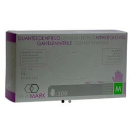 Guante nitrilo new mark 30 cm t/ med 100 ud ref: 110011 - 2470099 - GUANTE NITRILO NEW MARK