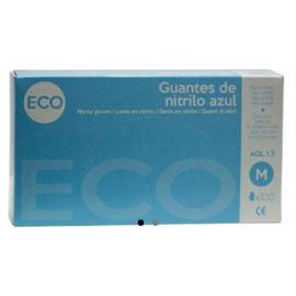 Guante nitrilo eco t-m pq 100 ud ref: gua052 - 2470072 A 2470075 - GUANTES NITRILO ECO