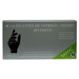 Guante nitrilo negro t-gde 100 ud (c/1000 ud) san - 2470071 - GUANTES NITRILO NEGRO