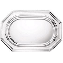 Bandeja octogonal plata 55x38 c/10x5 und ref: 1553810 - 3310040 - BANDEJA OCTOGONAL PLATA