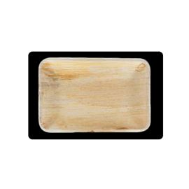 Bandeja rectangular plana hoja palma 24x16 cm - MACADAMIA_21
