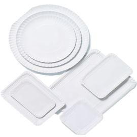 Bandeja carton blanca nº 6 18x24 paq 100 uds - 1030001