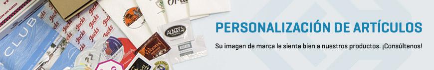 Personalización de Artículos - Consúltenos para personalizar nuestros productos con su logotipo, colores corporativos, el nombre de su empresa...